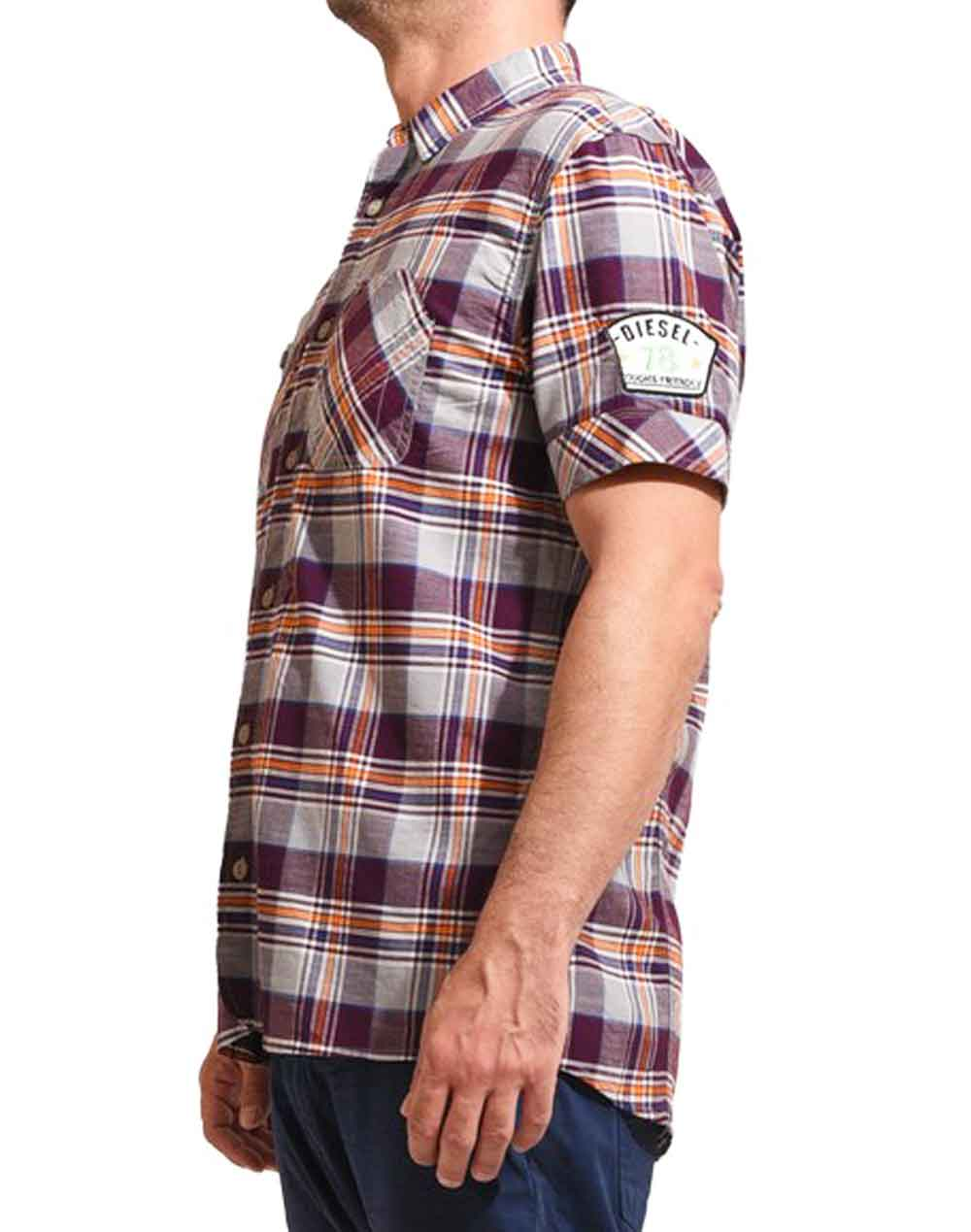 DIESEL SGANCY SHIRT 00CPNG PURPLE