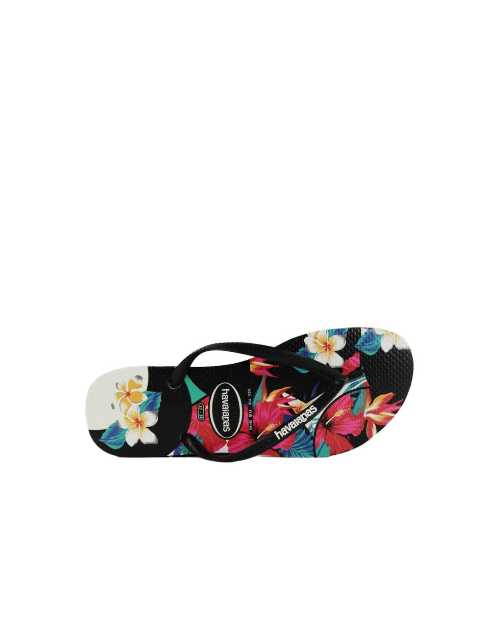 03453adde877 Havaianas Slim Tropical Floral Black (4139406 0090)
