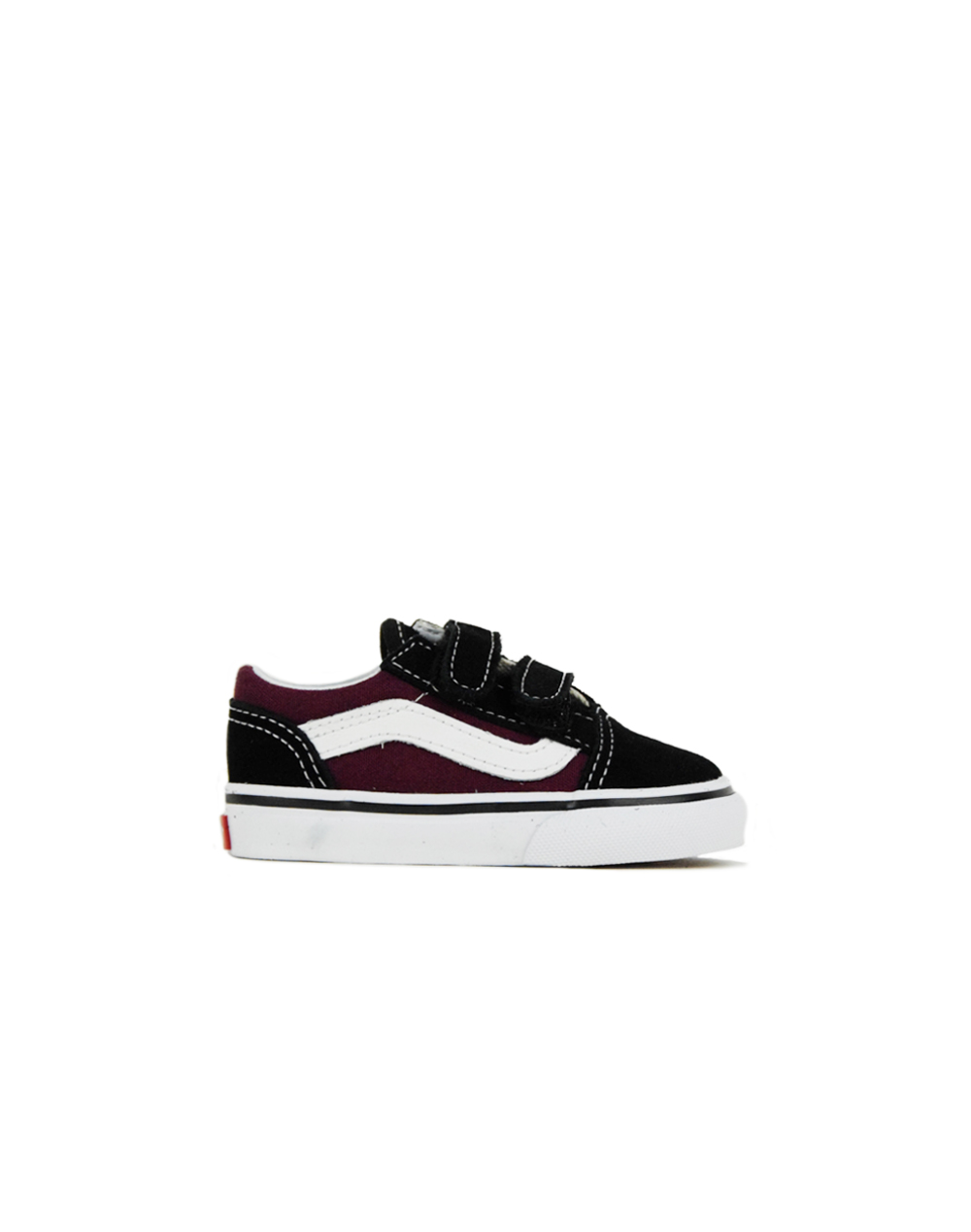 5489f6db755b Vans Old Skool V(POP) Black Burgundy (VA344KQ7J)