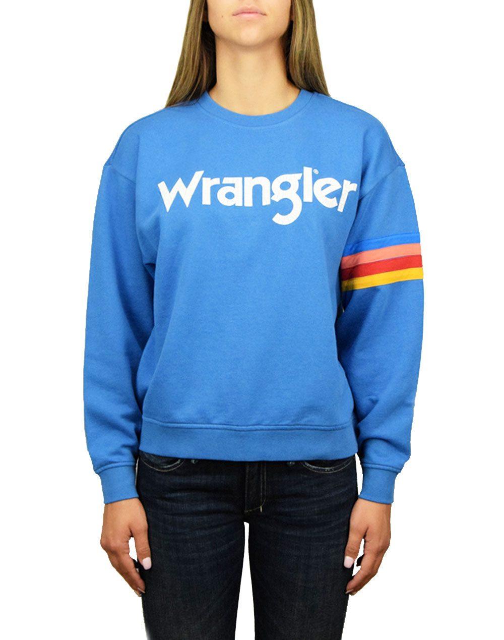 Wrangler Logo Sweat Deep Water (W6072HQDF)