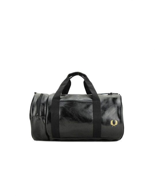 Fred Perry Classic Barrel Bag Black/Gold (L3330-974)