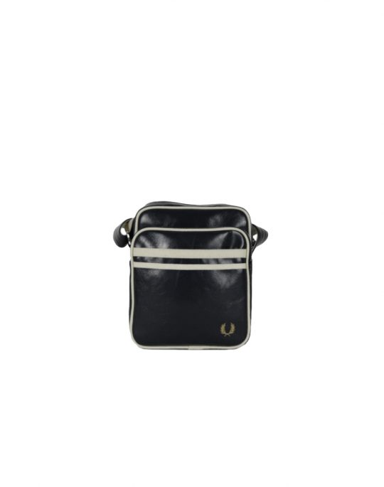 Fred Perry Classic Side Bag Black/Ecru (L3332-D57)