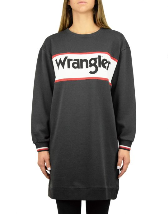 Wrangler Sweat Dress Faded Black (W9066HQV6)