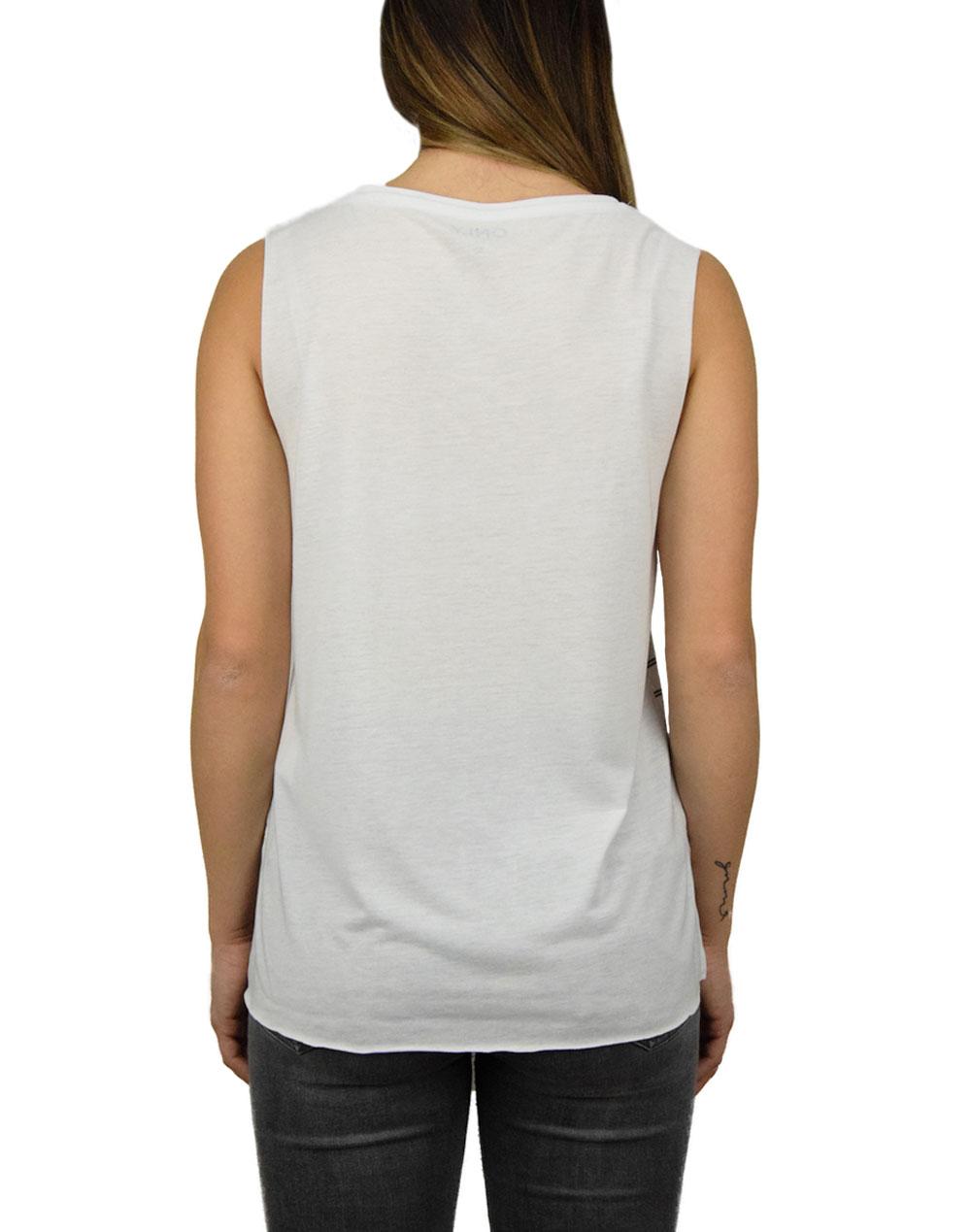 Only Sarah Aqua Girl Top Bright White/Black (15114734)