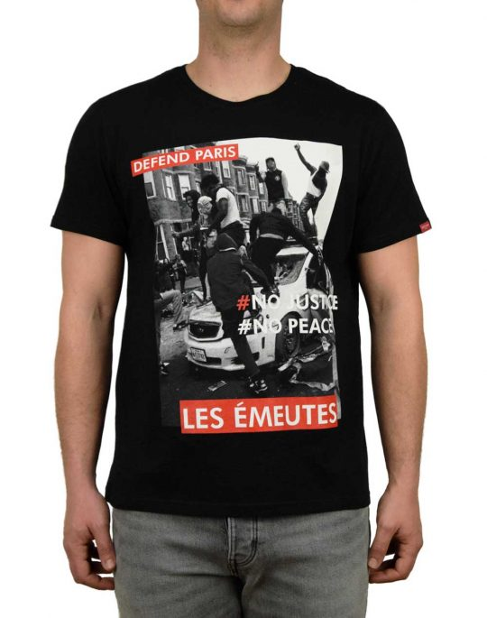 Defend Paris Emeutes Tee Black