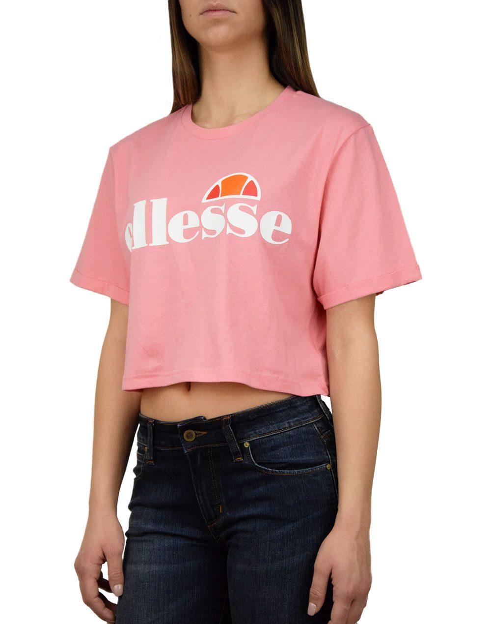 Ellesse Core Alberta Crop T-shirt Pink (SGS04484)