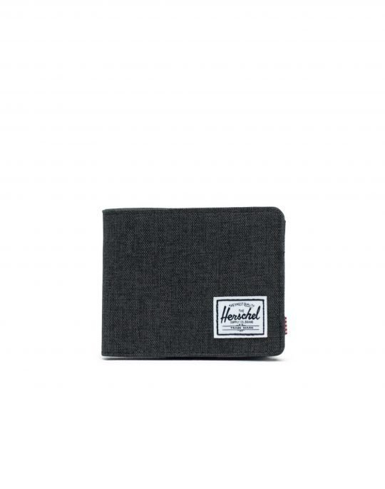 Herschel Supply Co Roy + Coin RFID (10403-02090) Black Crosshatch