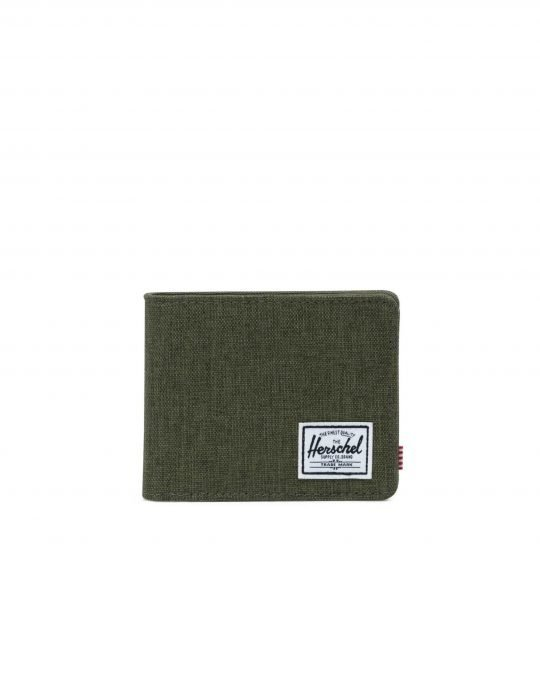 Herschel Supply Co Roy + Coin  RFID (10403-02453) Olive Night Crosshatch