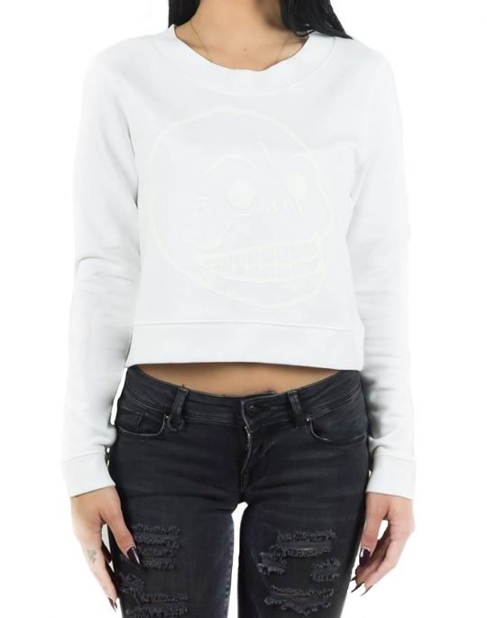 CHEAP MONDAY EXACT SKULL SWEAT 0337944 100 WHITE