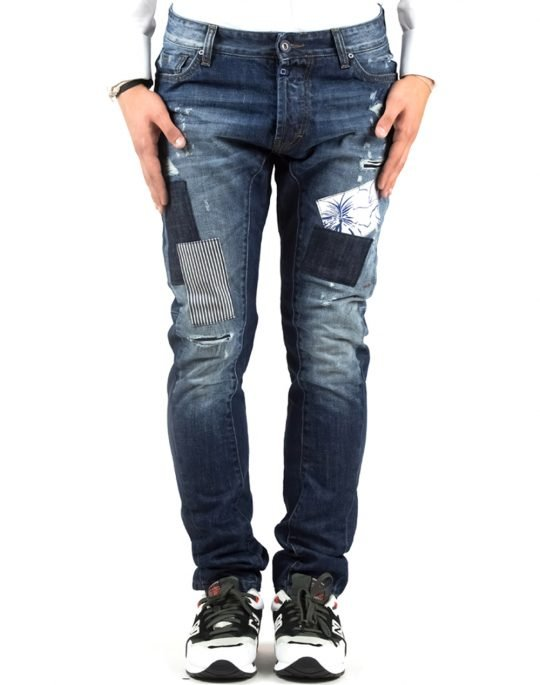 COVER LOOSE SKINNY BIKER 6641 DENIM
