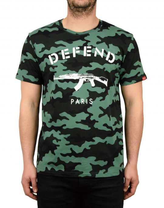Defend Paris Tee Army Camo