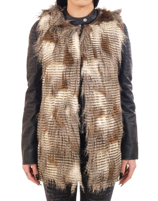 ONLY LAILA FUR WAISTCOAT 15119252 DEMITASSE