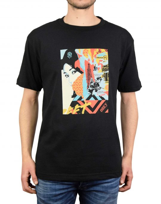 Obey Drink Crude Oil Recycled Tee (167291845-BLK) Black
