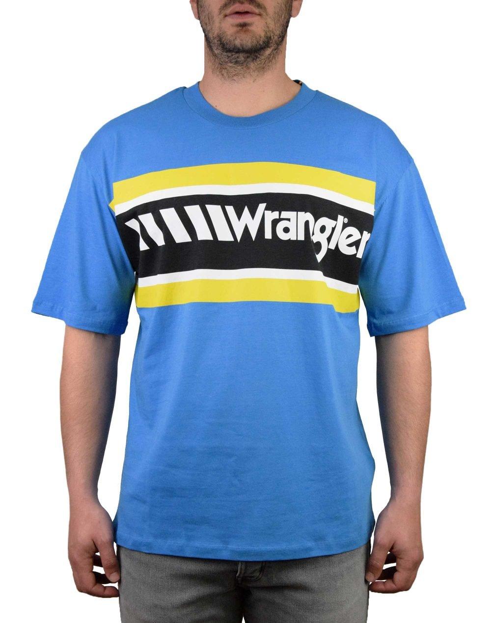 Wrangler B&Y Oversized Tee (W7C44GHBR) Mediterranean Blue