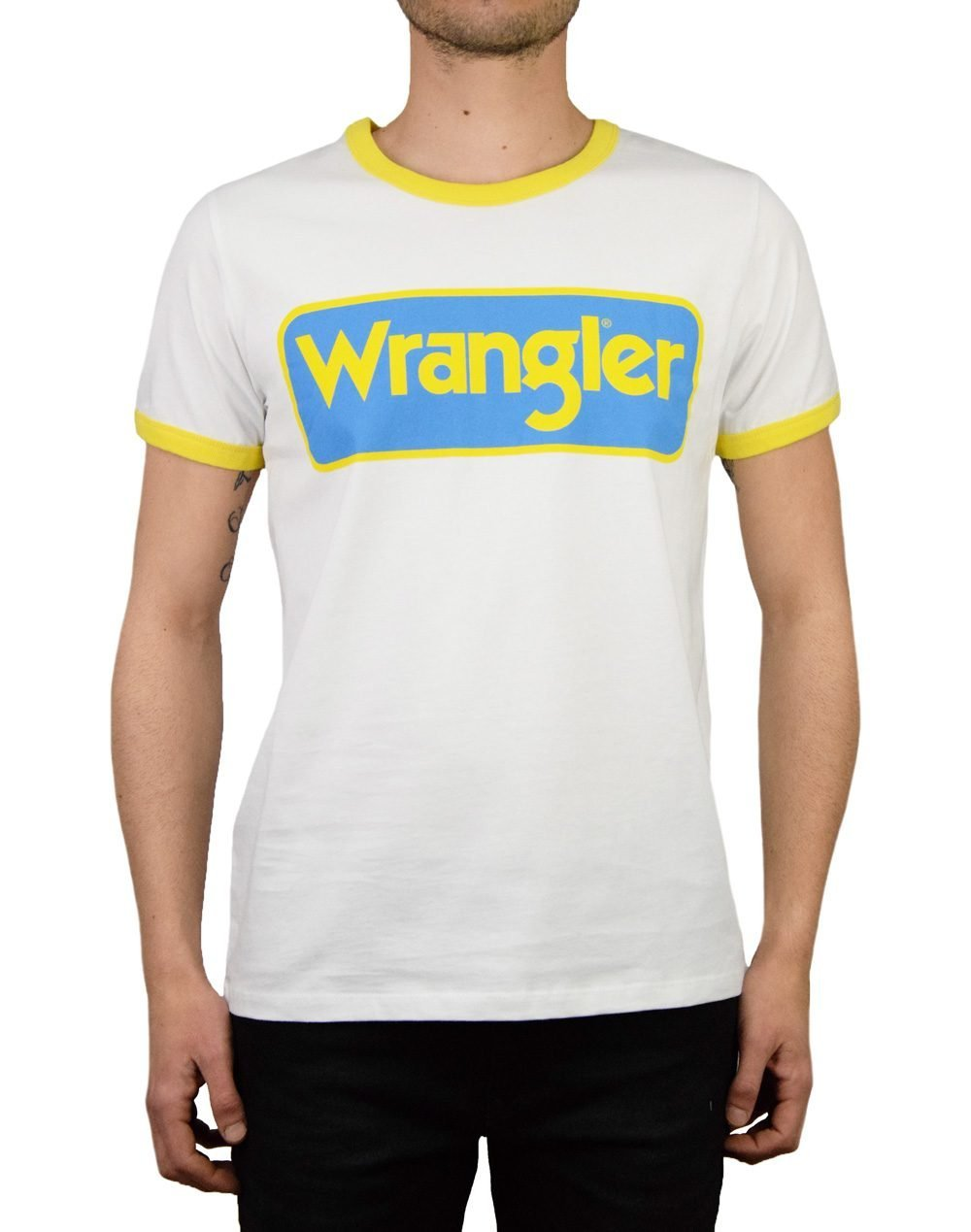 Wrangler B&Y Ringer Tee (W7C42FK12) White