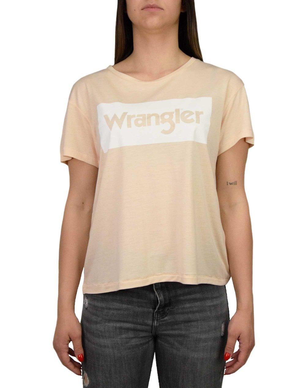 Wrangler Drape Tee (W7016DIX7) Tender Peach