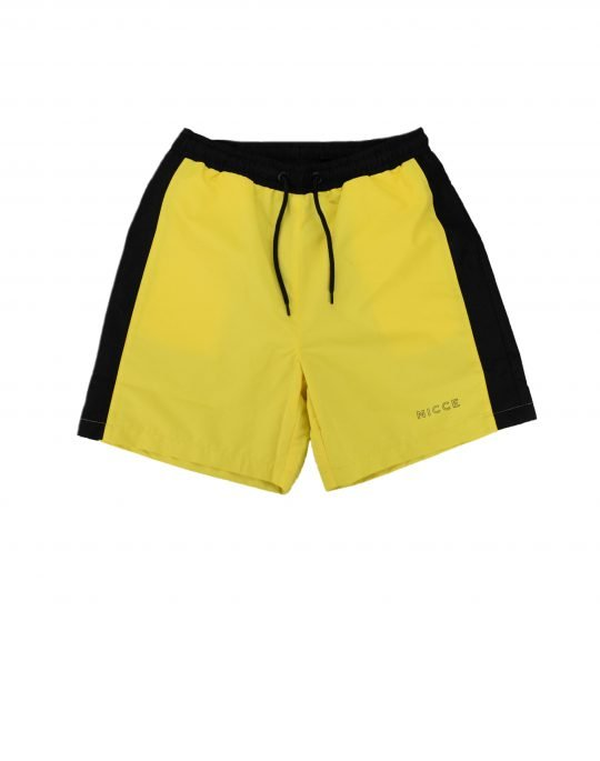 Nicce Byron Swim Shorts (191-1-14-01-0040) Black/Vibrant Yellow
