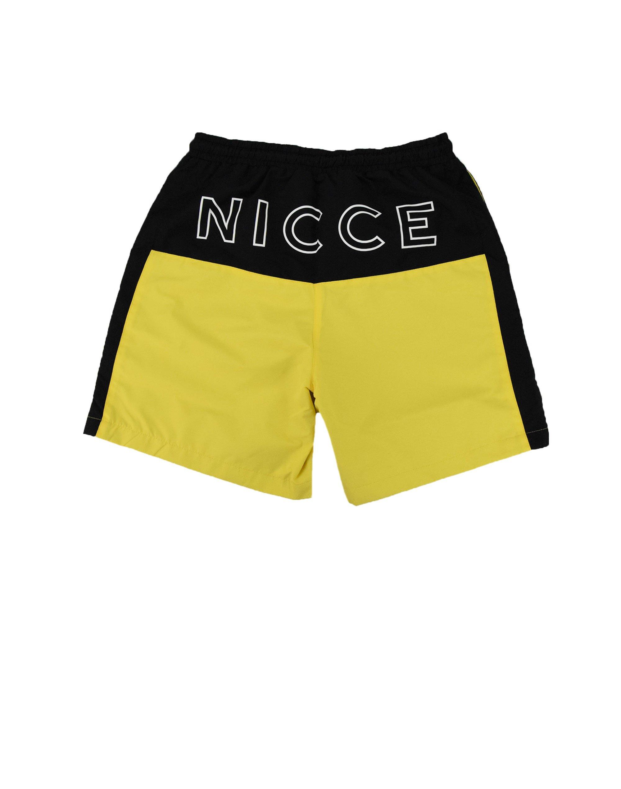 Nicce Byron Swim Shorts (191-1-14-01-0040) Black/Vibrant Yellow