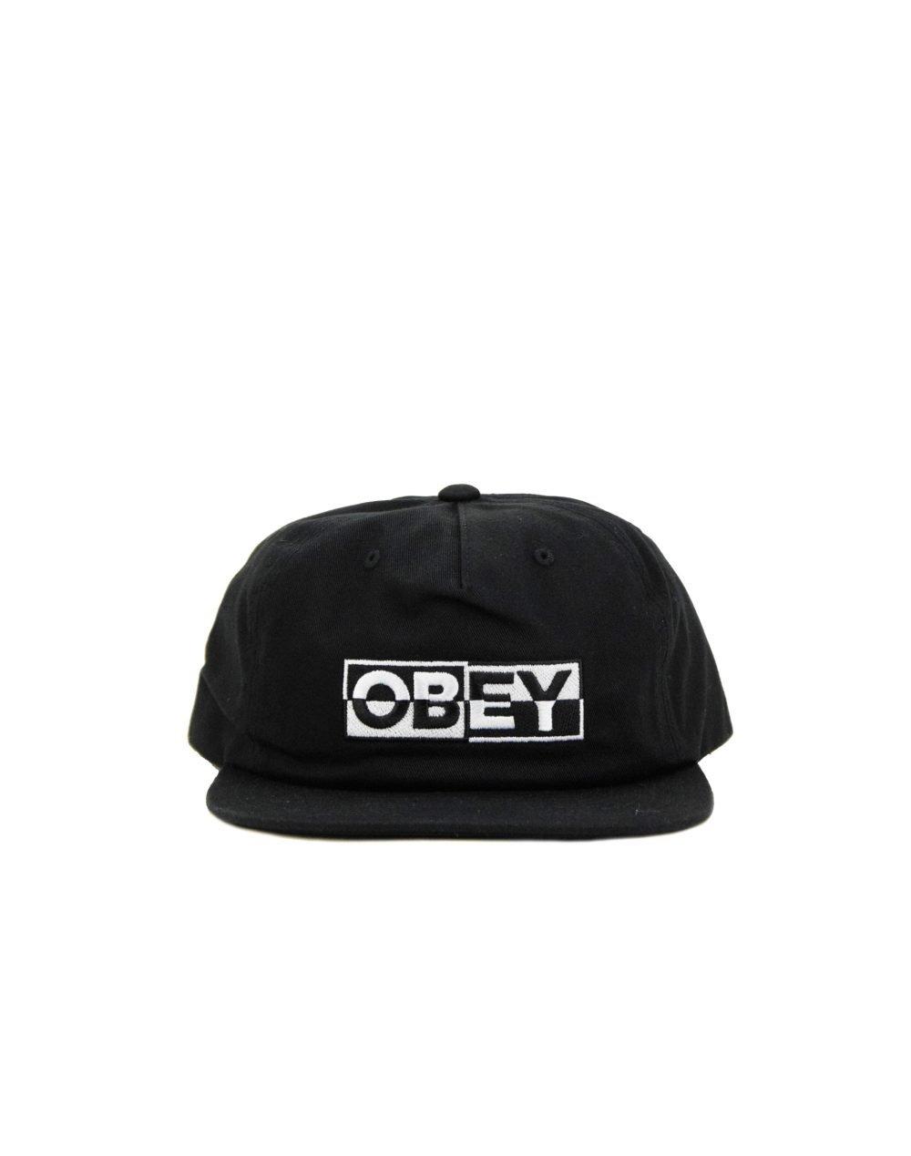 Obey Impact Snapback (100570095-BLK) Black