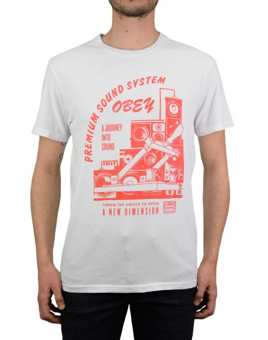 Obey Soundsystem Uperior Tee (166141914-WHT) White