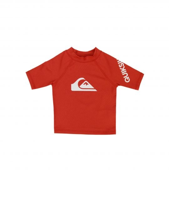 Quiksilver All Time Sort Sleeve UPF50 Rashguard (EQKWR03049-RQC0) High Risk Red