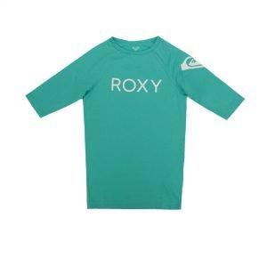 Roxy Funny Waves Sort Sleeve UPF 50 Rashguard (ERGWR03108-GMH0) Atlantis