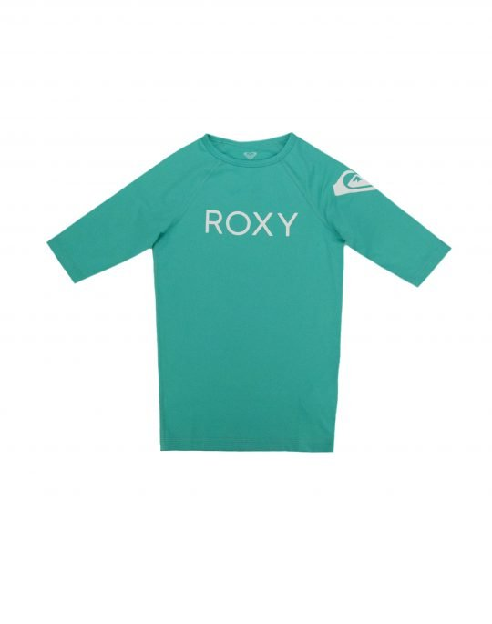 Roxy Funny Waves Sort Sleeve UPF 50 Rashguard (ERGWR03108-GMH0) Atlantis