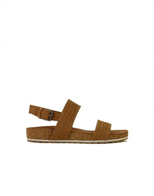 Timberland Malibu Waves 2 Band Sandal (TB0A1WZF-F13) Rust Embossed Suede