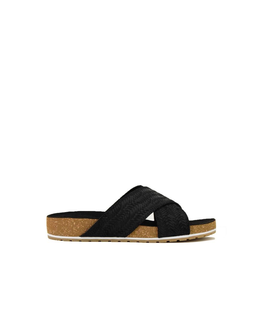 Timberland Malibu Waves Cross Slide (TB0A1XXF-015) Black Embossed Suede