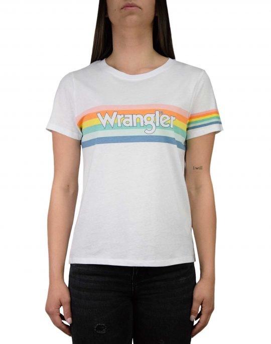 Wrangler Rainbow Tee (W7N4EV989) White