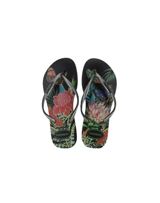 Havaianas Slim Tropical (4122111 1164) Black / Graphite