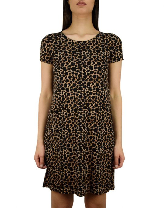 Only Bera Back Lace Dress (15131237) Black / Leo Print