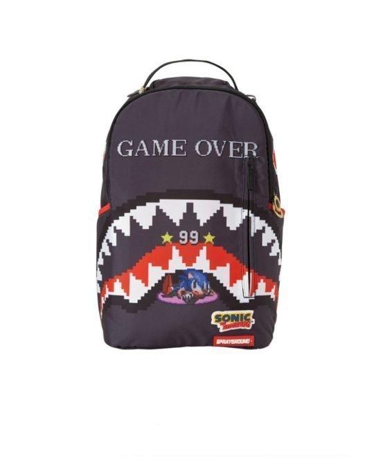Sprayground Sonic Game Over Shark Backpack (B2448) Black