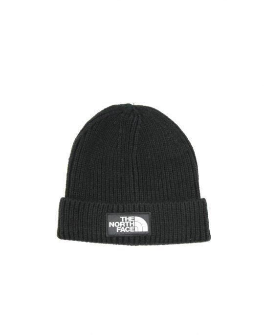 The North Face Logo Box Cuffed Beanie(T93FJXJK3) Black