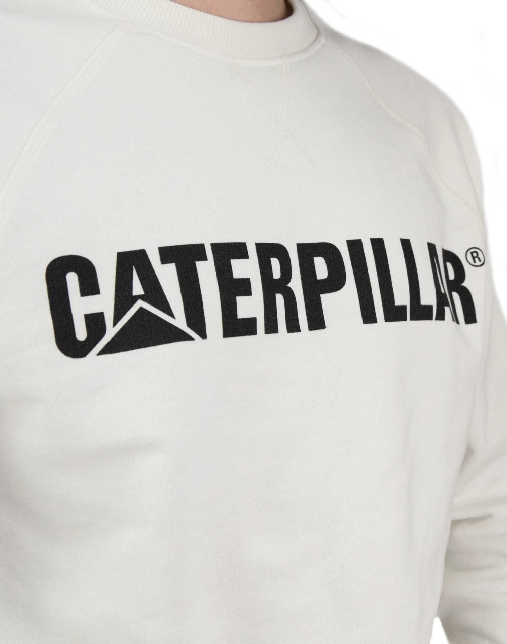 Caterpillar Classic Crew Neck (2910266 123) Cream White