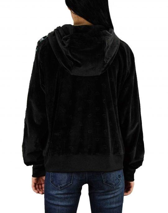 Ellesse Heritage Aosta Velour Fullzip Hoodie (SGC07287) Black