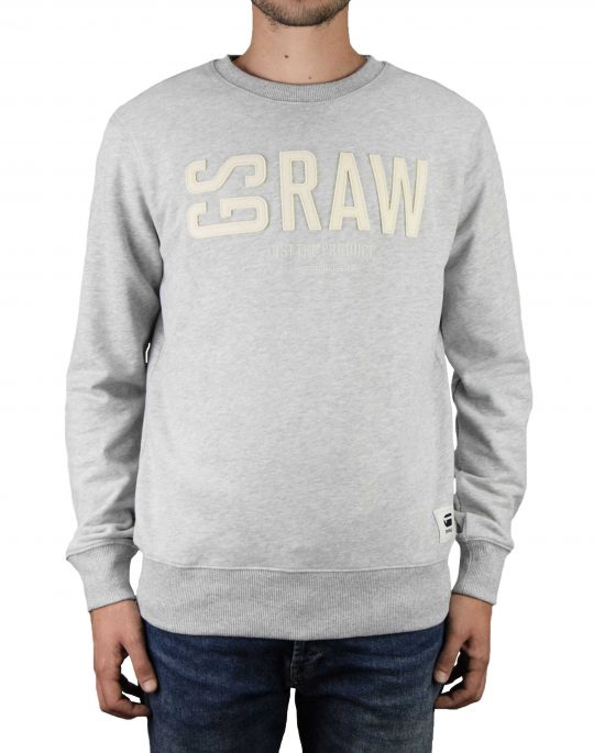 G-Star Raw Graphic 17 Core Crew Neck (D14725-B349-A302) Light Grey Heather