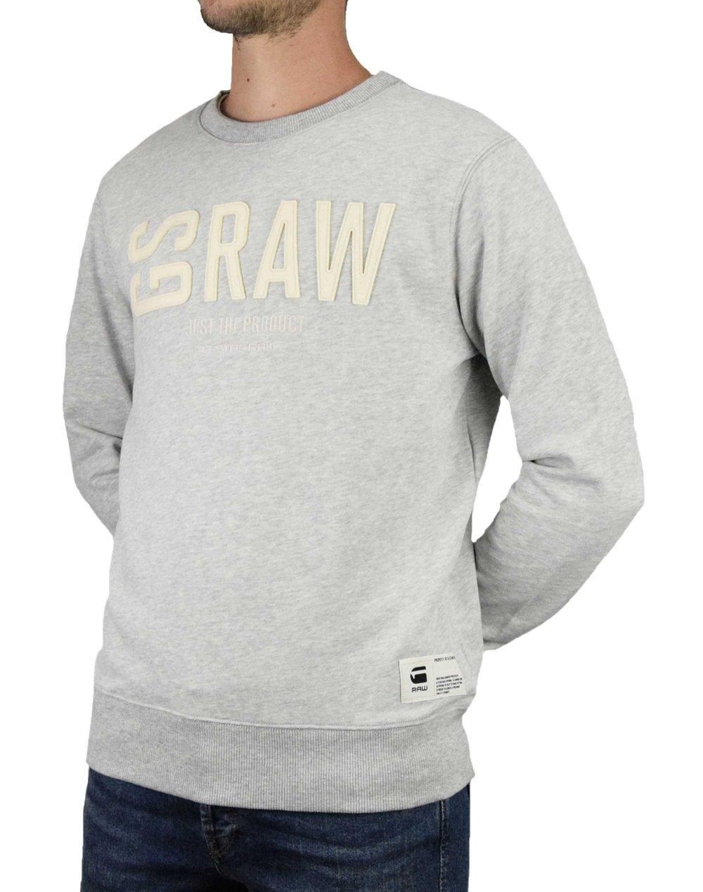 G-Star Raw Graphic 17 Core Crew Neck (D14725-B349-A302) Light Grey Heather