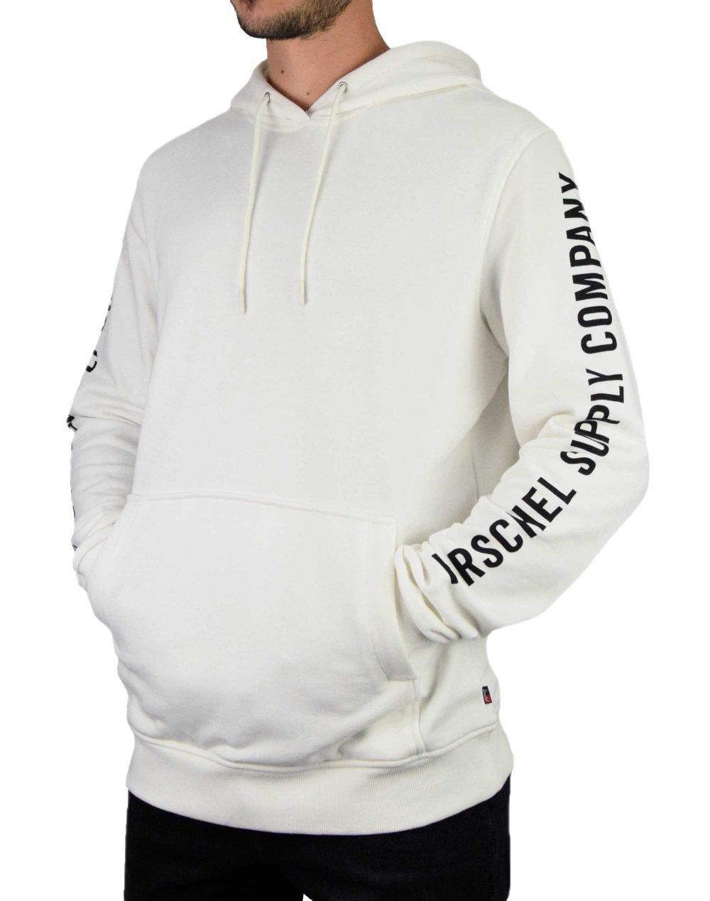 Herschel Supply Co Pullover Hoodie Slleve Print (50033-00260) White