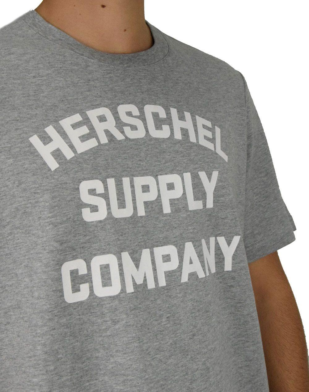 Herschel Supply Co Stacked Chest Tee (50027-00388) Heather Grey