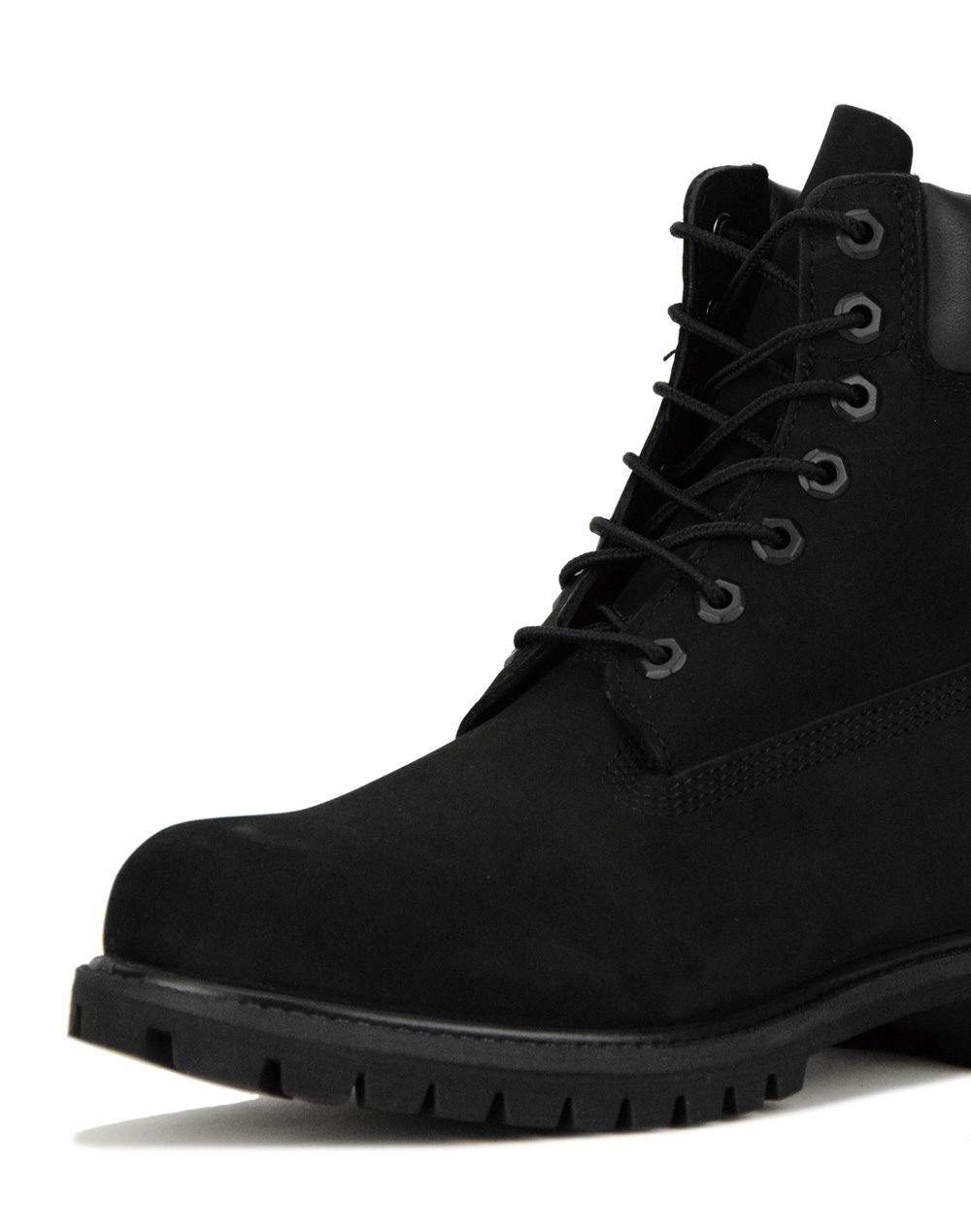 Timberland Premium 6 In Waterproof Boot (TB010073 001) Black Nubuck