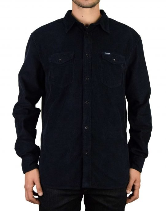 Wrangler 2 Pocket Flap Shirt (W5A5TC114) Navy