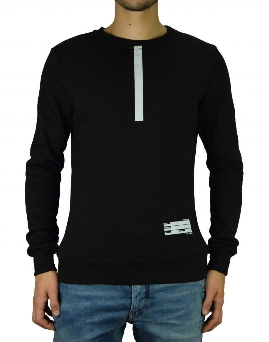 Big Bong Straight Line Crew Neck (F1-2) Black