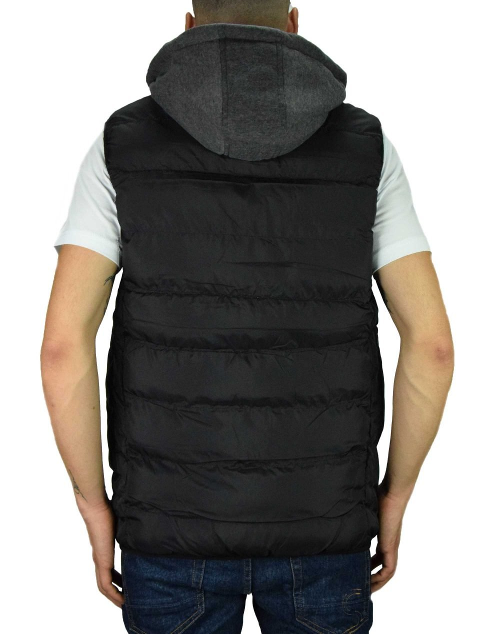 Biston Mens Hooded Puffy Vest (42-202-001) Black