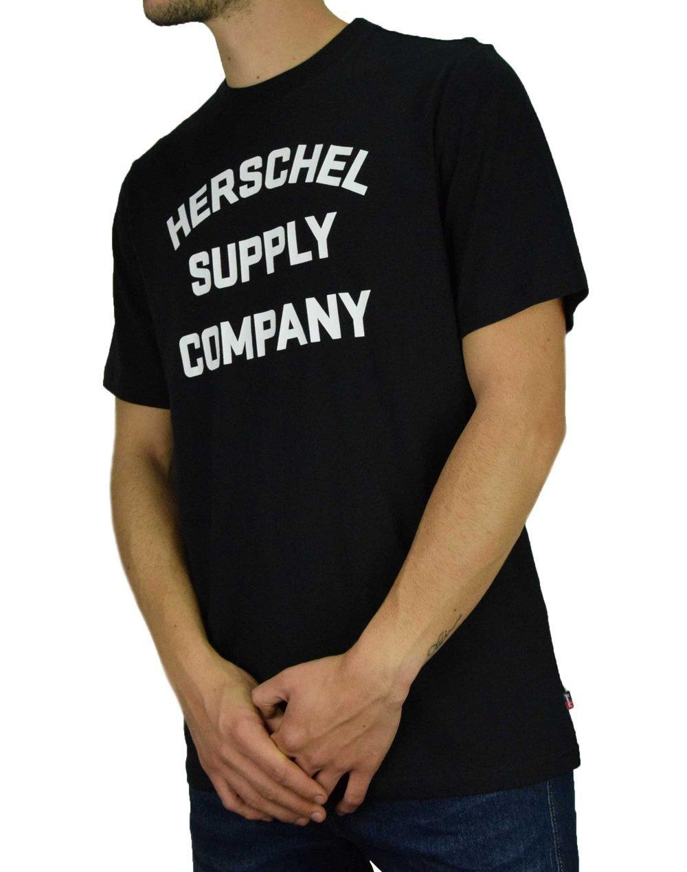 Herschel Supply Co Stacked Chest Tee (50027-00385) Black