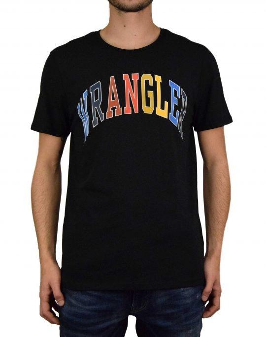 Wrangler Rainbow Tee (W7C7D3100) Black