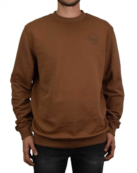 Herschel Supply Co Crewneck Classic Logo Tee (50032-00512) Saddle Brown