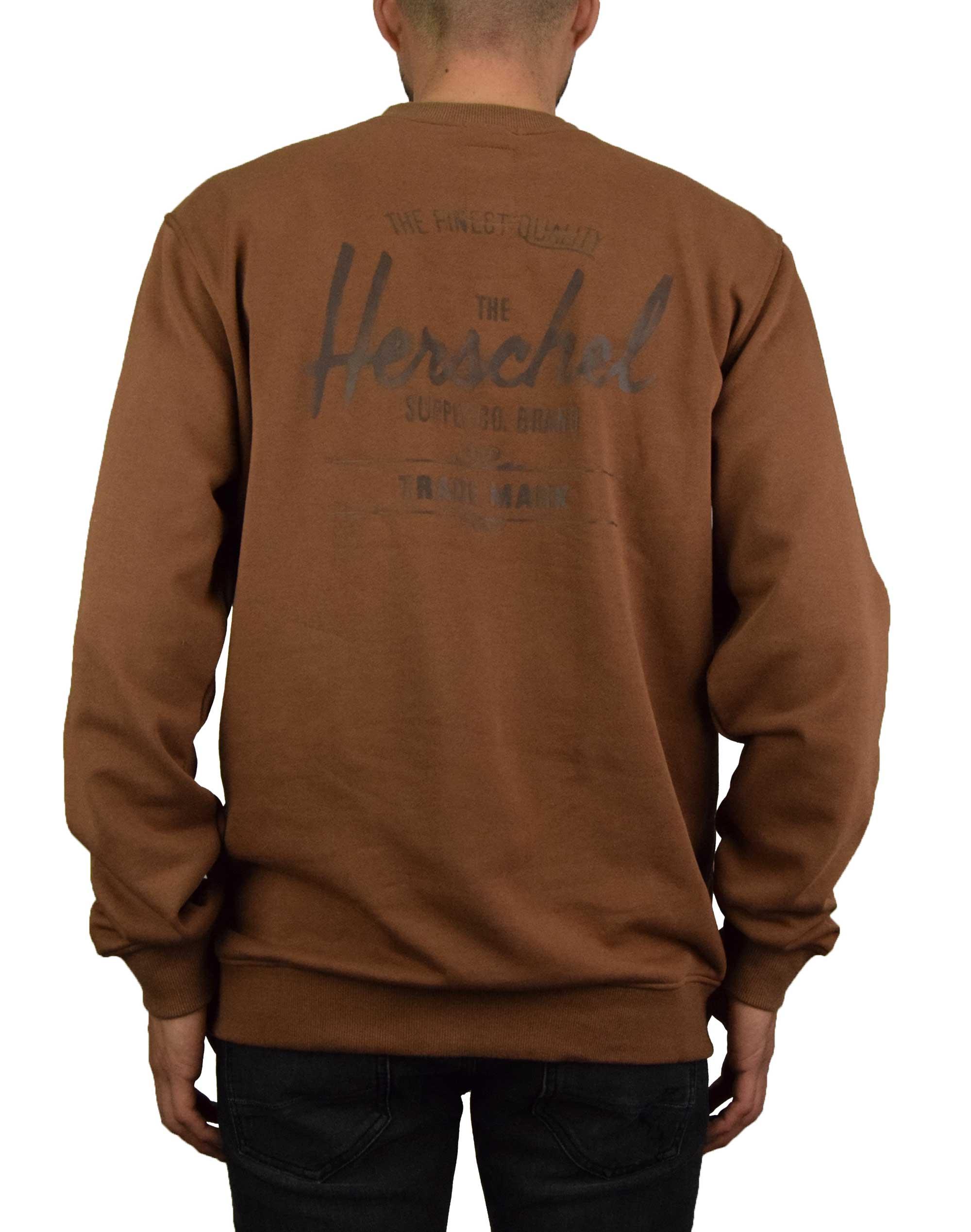 Herschel Supply Co Crewneck Classic Logo Tee (50032-00512) Saddle Brown