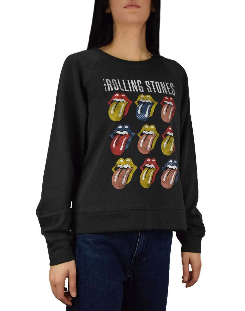 Only Rolling Stones Long Sleeve Box Sweater (15195951) Phantom Black