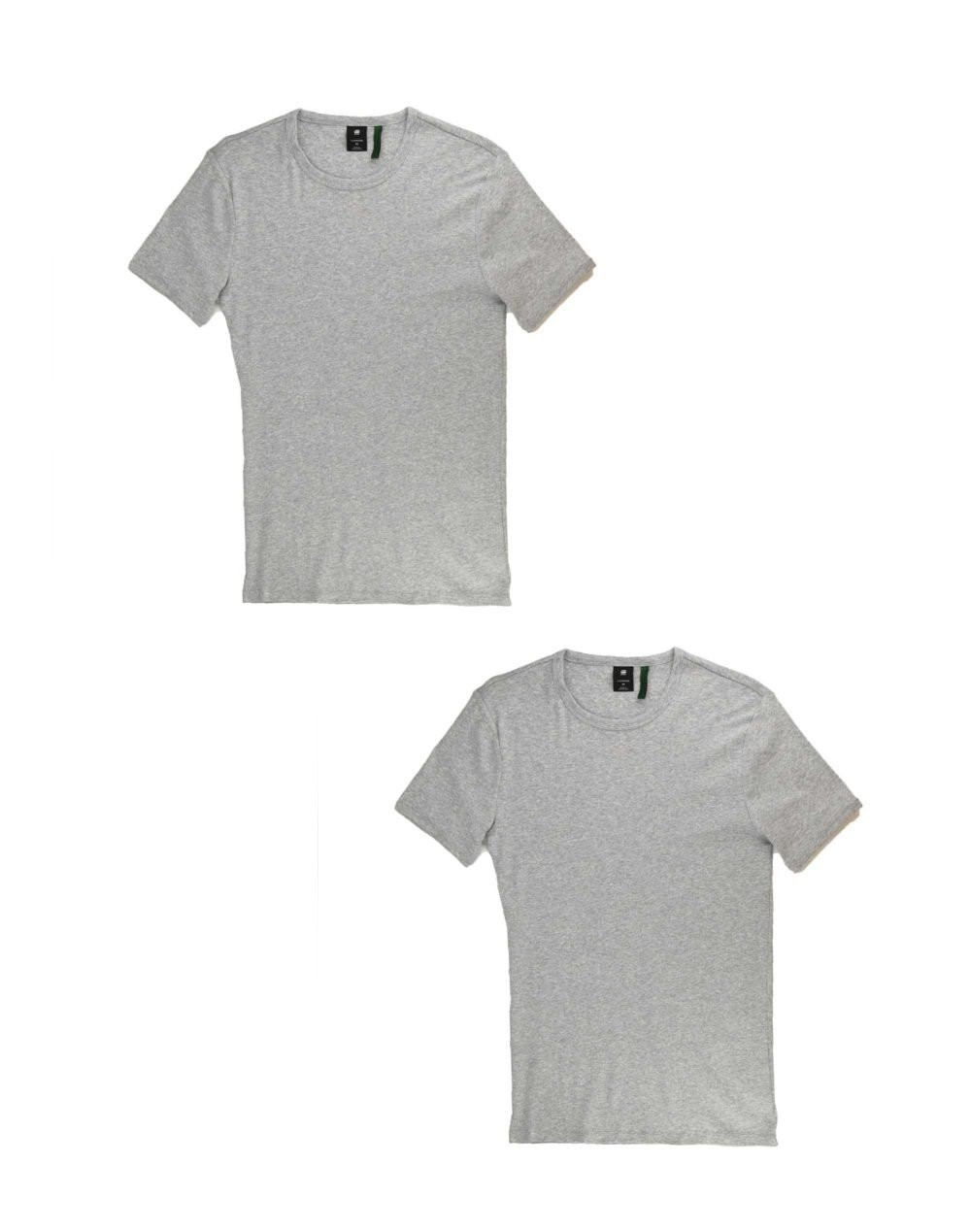 G-Star Raw Basic T-Shirt 2-Pack (D07205-124-906) Grey Heather